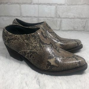 Frontier Collection Snake Ankle Western Booties